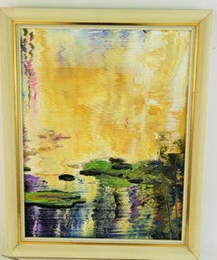 Lilly Pond Abstract  Landscape #3