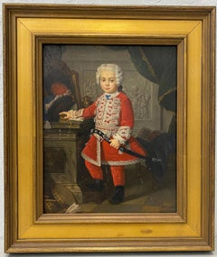 """M. Moshall """"The Young King"""" Original Oil Painting Early 20th C."""