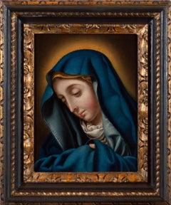 Madonna del Dito - Original Oil on Copper - 17th Century