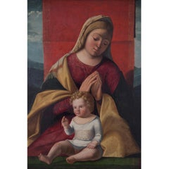 Madonna with Child, 16th Century, Oil on Wood, Religious and Figurative, Italy