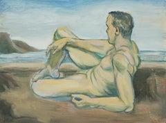 Male Nude at the Beach Carmel