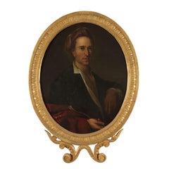 Male Portrait, Oil on Canvas, 18th Century
