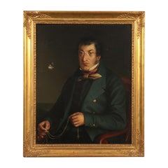 Male Portrait, Oil on Canvas, Lombard School 19th Century