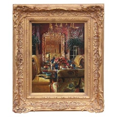 Mansion Interior Architectural Painting of a Dining Room