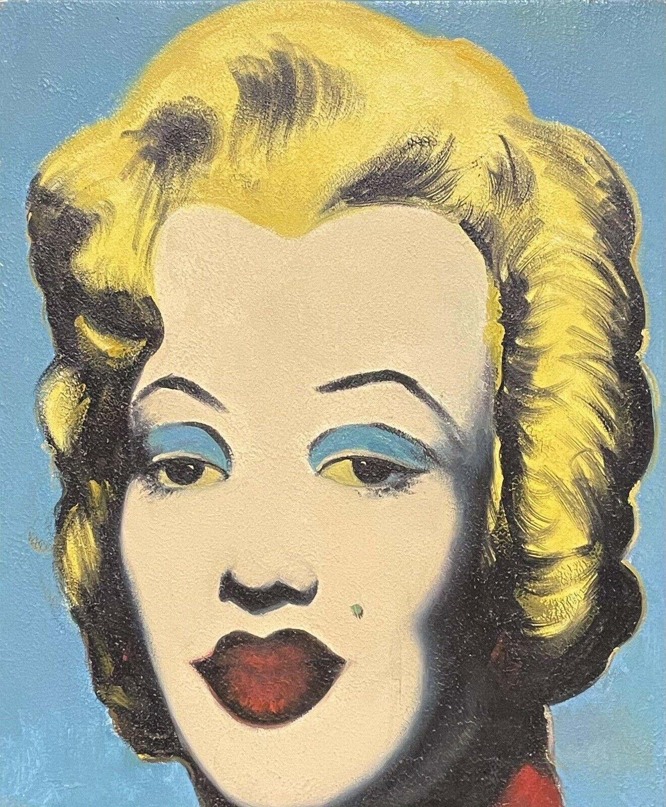 MARILYN MONROE PORTRAIT - POP ART STYLE PAINTING