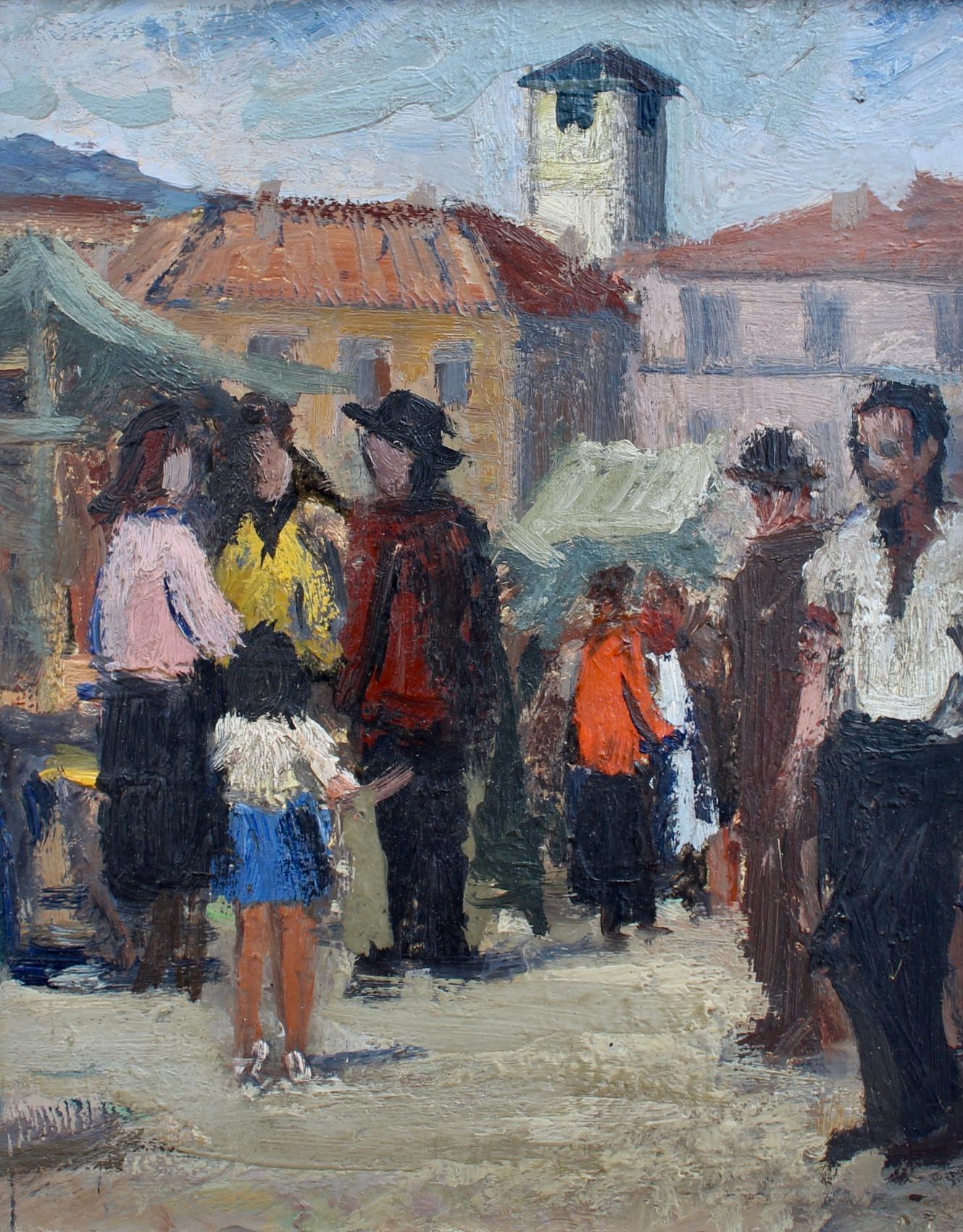 Market Day in Piazza Grande Locarno Switzerland