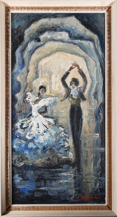 Martin Ocana - Signed & Framed Mid 20th Century Oil, The Spanish Dancers