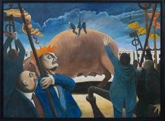 Martin Vernon (b.1966) - 1992 Oil, Riding The Economic Pig