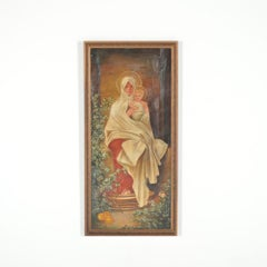 Mary Holding Jesus Oil Painting