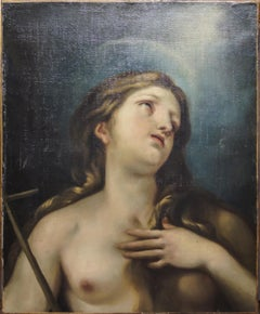 Mary Magdalene - Oil on Canvas by Italian School 19th cent.