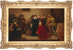 Mary, Queen Of Scots Receiving The Warrant For Her Execution signed Gaspar Masca