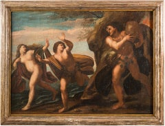 Master of the 18th century - Polyphemus throws the stone against Aci and Galatea