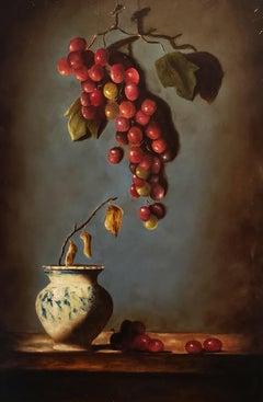 Mediterranean Light, Still Life, Oil, Italian Artist, Light and  Shadow, Framed