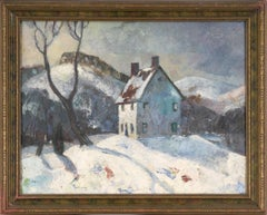 Melting Snow on the Cabin - Winter Landscape