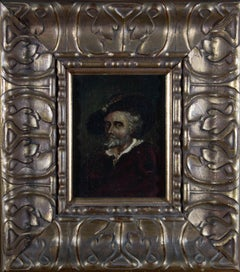 Mid 19th Century Oil - Jacobean Gentleman