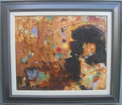 Mid 20th Century Modernist: Lucien Beyer (1908-1981) Large Abstract oil