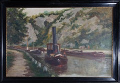 Mid 20th Century Oil - Dutch Canal Boats