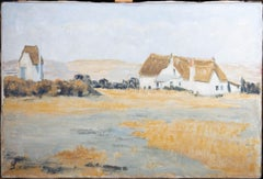 Mid 20th Century Oil - French Cottages