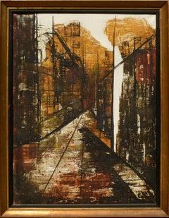 Mid Century Abstract Cityscape, Rue Cardinal