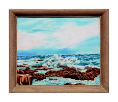 Mid Century Bright Waters California Seascape