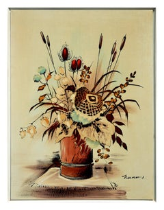 Mid-Century Dry Floral Still Life