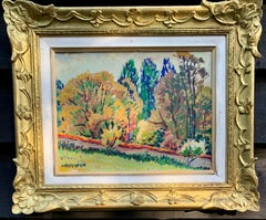 Mid Century French/European school, impressionist landscape with trees