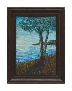 Mid Century Landscape -- Tree by the Bay