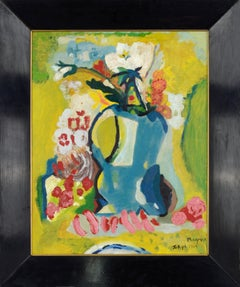 Mid Century Modern Abstract Expressionist Floral Bouquet Still-Life - Tokyo 1960