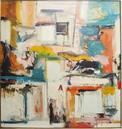 Mid Century Modern New York School, Large Abstract Expressionist Composition