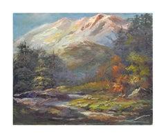 Mid Century Sierra Mountain California Landscape