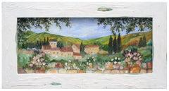 Mid Century Tuscany Primitive Landscape