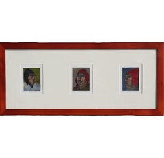 Miniature South American or Native American Portraits Paintings Signed Erwin
