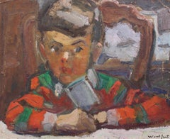 'Mischief Maker', French Oil Portrait of Young Boy (circa 1930s)