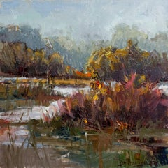 Mist, Plein Air Impressionism Original Fine Art Oil on Linen Canvas