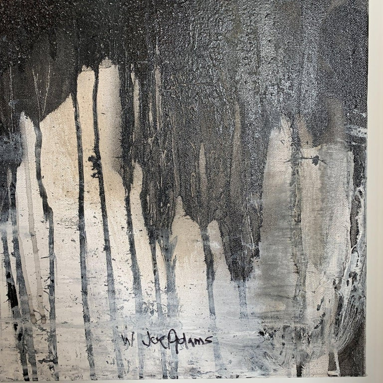 Modern Black & White Abstract Painting  For Sale 1