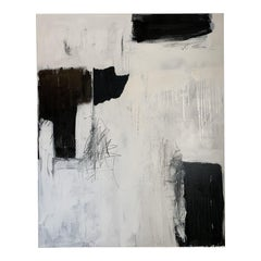 Modern Black & White Abstract Painting
