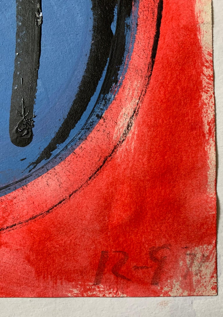 Modern British 20th Century Colourful Abstract Painting - Geometric shapes For Sale 2