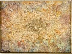 Modern Brown Art Signed by Artist in Velvet Frame