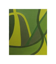 Modern Green Tonal Organic Abstract Painting