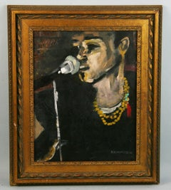 Modern Jazz Singer Acrylic Painting