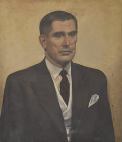 Modern school, 20th century, Portrait of a man, monogrammed AH