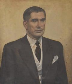 Modern school, 20th century, Portrait of a man, monogrammed AH