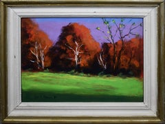 Modernist Abstract Landscape Storm King Park Signed Mid Century Oil Painting