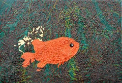 Modernist Impasto Goldfish