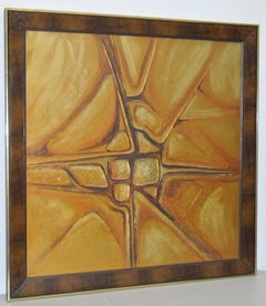 Monumental Gold Tone Abstract Painting by MacMillan c.1970