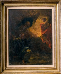 Moses and the Burning Bush - Oil Paint by Italian School 17th-18th cent.