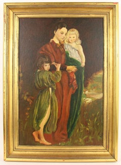Mother and Children Figurative Painting