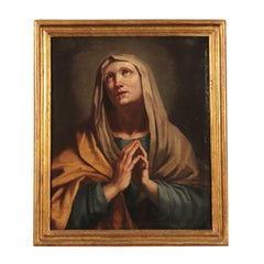 Mourning Virgin Italian School Oil On Canvas 18th Century