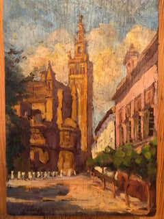 Mystery Signed Impressionist Street Scene