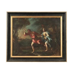 Mythological Scene Oil On Canvas Neapolitan School 17th Century
